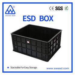 클린룸 블랙 플라스틱 ESD PCB 순환 골판지 박스