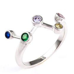 Yongの女の子のための多彩なCZ S925最高時のSilveの宝石類のリングをめっきする方法宝石類ロジウム