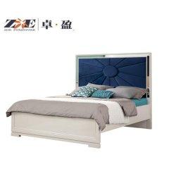 Osten-heißer verkaufender glänzendes rostfreies Metall widergespiegelter Rahmen-blauer Farben-König Bed