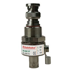 La télévision par câble coaxial RF BNC 10KA DC GHz 0-3 mois mâle à femelle Signal de la preuve de l'eau de 50 ohms IP 65 protecteur de surtension parafoudre Protection contre la foudre