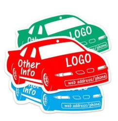 Bevanda rinfrescante di aria di carta solida dell'automobile di figura su ordinazione di marchio per la promozione