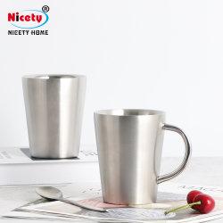 [ببا] يحرّر قابل للاستعمال تكرارا مزدوجة جدار [ستينلسّ ستيل] فنجان [نو برودوكت] لون طبيعيّ حراريّ يعزل فنجان