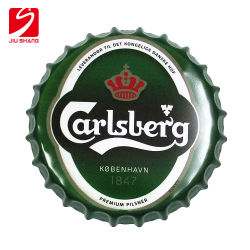 Retro Iron Beer Bottle Cap Cafe Tin Bar Painting Wall Ornament