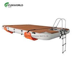 Bonne qualité du jet ski gonflable Yacht Drop Stitch dock flottant plate-forme de l'eau de l'île gonflable avec bateau fabriqué en Chine
