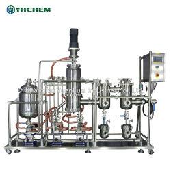 En el lugar y en línea de productos químicos de soporte de película arrasó de corto alcance de la máquina de destilación molecular en stock