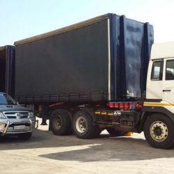 트럭 화물 자동차를 위한 옥외 PVC 입히는 직물 방수포 플라스틱 덮개