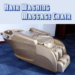 황금 색깔 섬유유리 미장원 샴푸 안마 의자