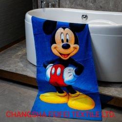 Stampa di coloranti reattivi personalizzati 100% cotone/microfibra Towel da spiaggia per l'hotel Per bambini e sport con Oeko-Tex BSCI fama