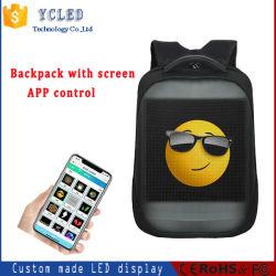 Regalo de moda al por mayor de la nueva tecnología mochila con pantalla LED