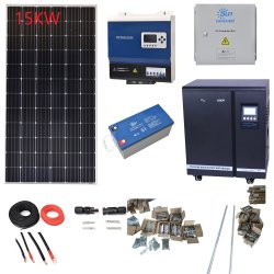 مجموعة اللوحة الشمسية 15 كيلو واط تحدد سعر عاكس الشبكة الطاقة الصفحة الرئيسية