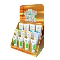 Caja de exhibición de contador de papel para cremas limpiadoras