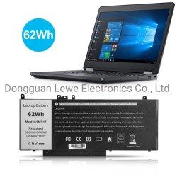 بالنسبة لبطارية ليثيوم أيون الكمبيوتر المحمول 6mt4t 7.6V 62wh من Dell بالنسبة لطاقة البطارية الكهربائية طراز Latitude E5470 E5570 من Dell الإمداد