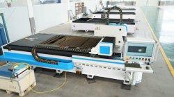 1000 واط، لوحة من الفولاذ الكربوني 12 مم، و6 مم، من الفولاذ المقاوم للصدأ ماكينة قطع ليزر ليفية CNC