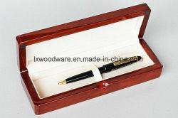 Caneta de madeira brilhante marrom Caixa de oferta de feltro para recolha de Embalagem embalagem caso Caixa de oferta