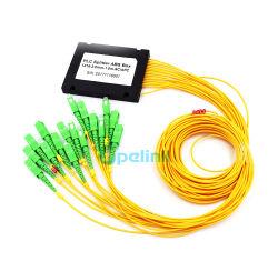 divisore di fibra ottica del PLC della scatola di plastica di 1X16 Sc/APC