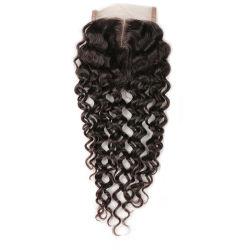 A DHL livre 7um barato o encerramento da base de seda em Linha Reta Virgem brasileira de cabelo humano Encerramento Rendas de topo de seda com fechos de cabelo do Bebé 3 Médio