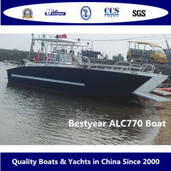 Bestyear 7.7m 25ft Aluminum Landing Craft High Speed Fishing Boat 島間の旅客輸送