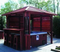 防水庭の屋外の温水浴槽の鉱泉の木の望楼(SR889)
