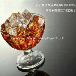 Cube personnalisé bloc Acrylique Acrylique Barre de bloc de glace de la décoration de la glace