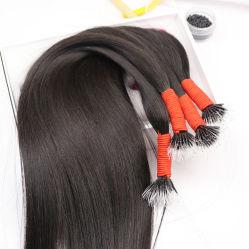 Couleur naturelle des cheveux vierge 100 % de la trame soyeuse brésilien/péruvien droites/Indian sèche
