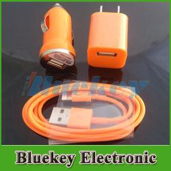 Автомобильное зарядное устройство настенное зарядное устройство USB-кабель от воздействий молнии дорожное зарядное устройство для iPhone 5, iPad mini