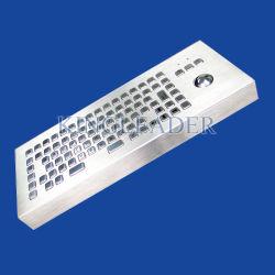 لوحة مفاتيح معدنية لسطح المكتب مع كرة التعقب ومفاتيح الوظائف