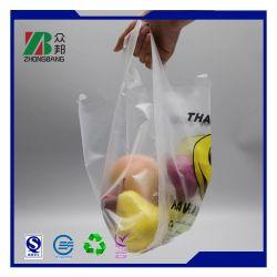 PE Griff Kunststoff Bunte Supermarkt Weste Tasche