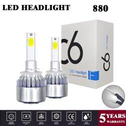 Faro de LED de mazorca de C6 H4 Kit de conversión12V 8000LM para la luz de conducción