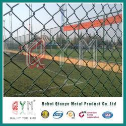 PVC コーティング鉄ワイヤメッシュチェーンリンクフェンス / 一時チェーンリンクフェンス