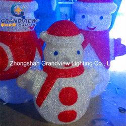 Illuminazione Snowman a LED piccola per interni all'aperto