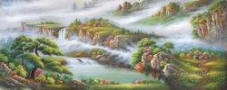 Impresión de hermosos paisajes naturales hechos a mano el arte de pintar Salón (ETL-083)