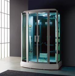 高級感のあるバスルーム、強化ガラス製のホームシャワー、サウナ、スチームバスを完備 部屋