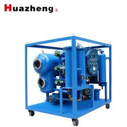 Dos móviles de alto vacío de aceite de transformador de la etapa de purificación y la deshidratación