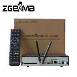 2019 il nuovo OS combinato Enigma2 della casella di Digitahi 4K UHD Zgemma H9 Linux si raddoppia sintonizzatori gemellare di memoria DVB-S2X+T2/C