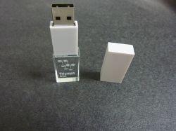 Кристально чистый флэш-накопитель USB с помощью гравировки индивидуального логотипа (OM-C108)
