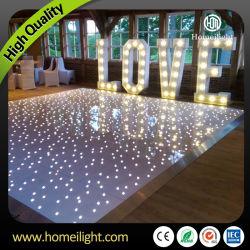 Imperméable étoilé en acrylique de danse dance-floor étoilée LED scintillantes pour mariage