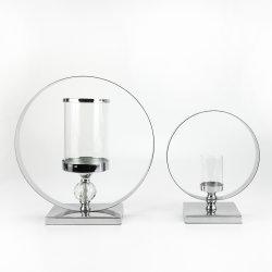 Decoratieve kaarshouders van metalen glas met 1 kristallen bol voor Home decoratie