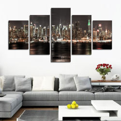 """نهر المدينة في جولة ليلية أو ماس مربع مثقب أدوات التطريز الديكور المنزلي هدية اصنع بنفسك اللوحة الماسية الكاملة 5 لوحات """"ديي كرافت"""""""