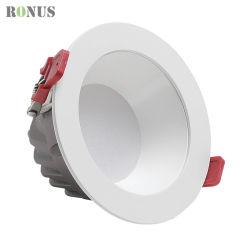 LED Downlight COB Spotlight profonde Luminaire antireflet 10W 20W 30W Plafond spot ampoule lampe Eclairage intérieur