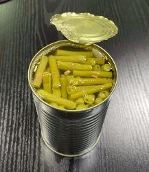 Il taglio fresco ha inscatolato i fagioli verdi inscatolati verdura