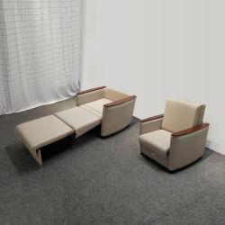 중국 가구 공급업체 휴대용 금속 다기능 병원, 싱글 풀 아웃 소파 침대
