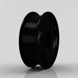 Black PLA 1,75mm 1kg de filamentos de consumibles de impresora 3D.