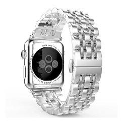 شريط ساعة من القش من الفولاذ المقاوم للصدأ الفاخر من السلسلة Apple 5/4/3/2/1
