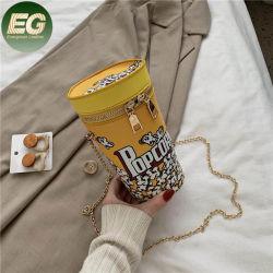 Sh1587 Mulheres Meninas Fashion Mini-bolsa de pele artificial sacos de telefone celular Bonitinha Caixa em forma de copo de chá de leite Crossbody Bag