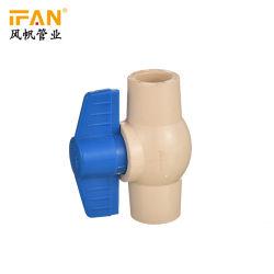 CPVC ASTM 2846 D التركيبات البلاستيكية للأنابيب صمامات CPVC الكروية الماء التحكم الكرة صمام تحاس سعر 1 / 2 بوصة