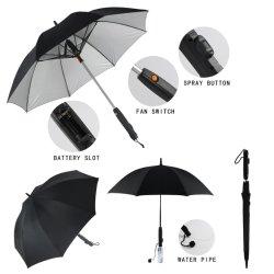Manuel de l'os droite ouverte ventilateur multifonction parapluie de pulvérisation