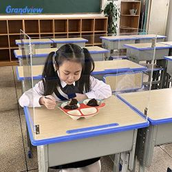 Protezione acrilica di starnuto dello scrittorio del banco del plexiglass dello scrittorio dell'allievo dello schermo della Tabella