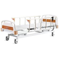 O OEM Tripla Função Hospital Medical Ward Paciente Cama ajustável e Enfermagem Económica Cama Elétrica com controle remoto Ss Trilhos Laterais e Motor Linak