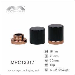 丸型のアルミニウムプラスチック香水瓶の装飾的な包装の帽子
