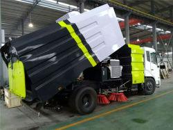 中国 HOWO 4X2 10m3 フロアスクラバー成形機圧力洗浄容器 トラック掃除機清掃掃除機ブラシ通りの道の Sweeper